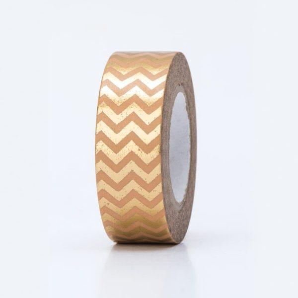 washi tape hot foil zigzag