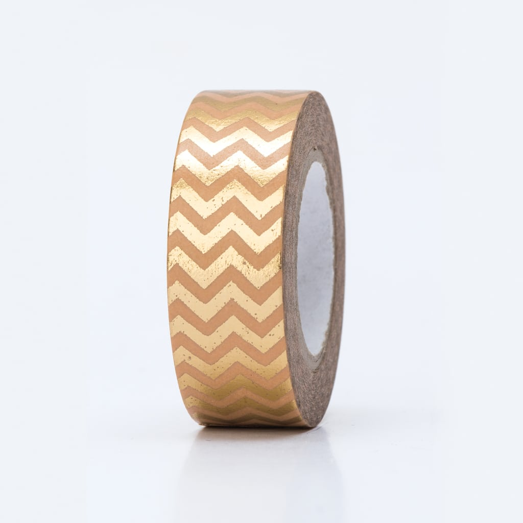 washi tape hot foil zigzag