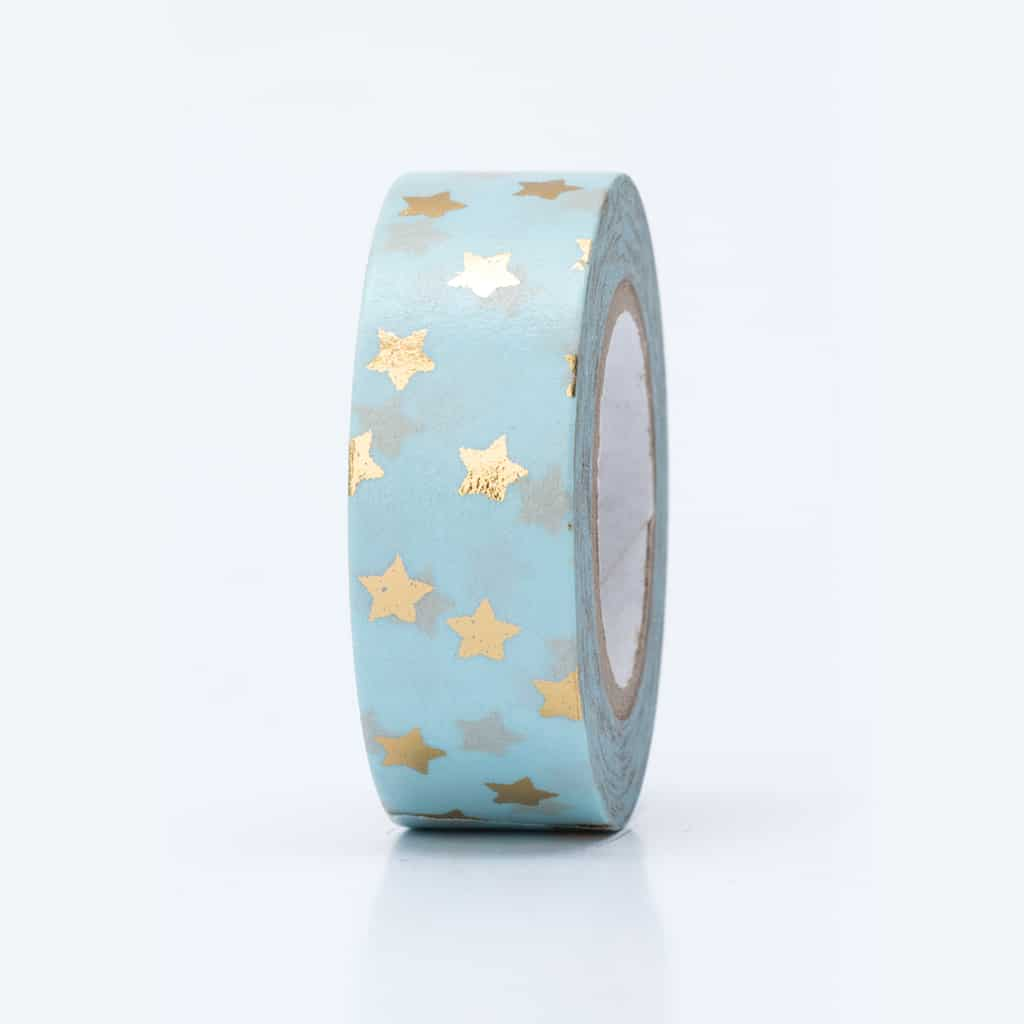 washi tape hot foil stars