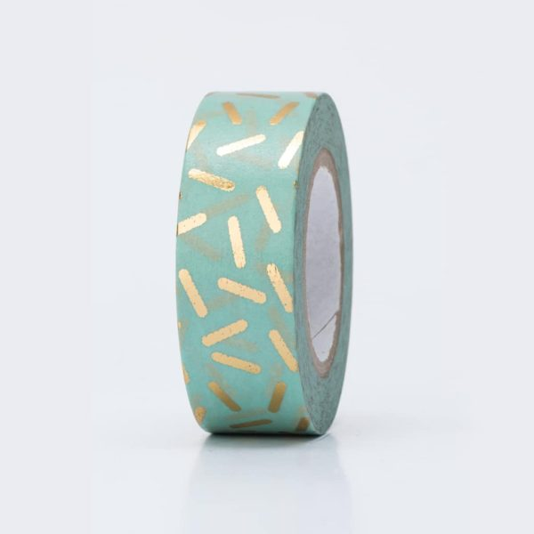washi tape hot foil dashes