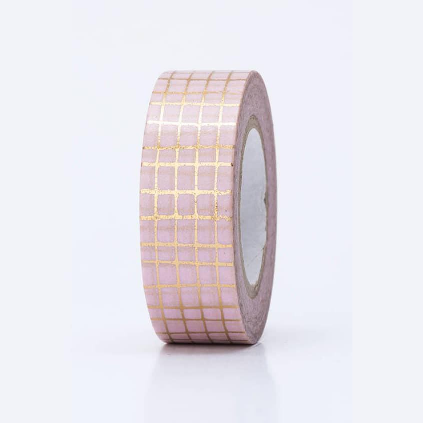 washi tape hot foil grid