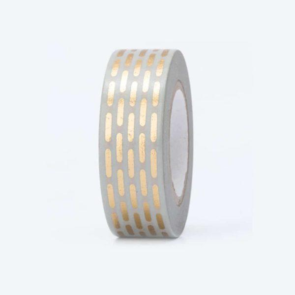 washi tape hot foil dashed lines