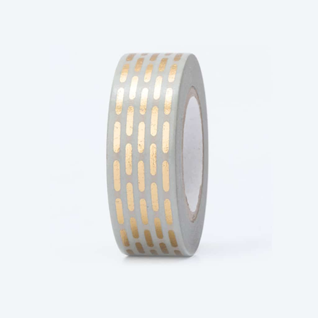 washi tape hot foil dashed lines