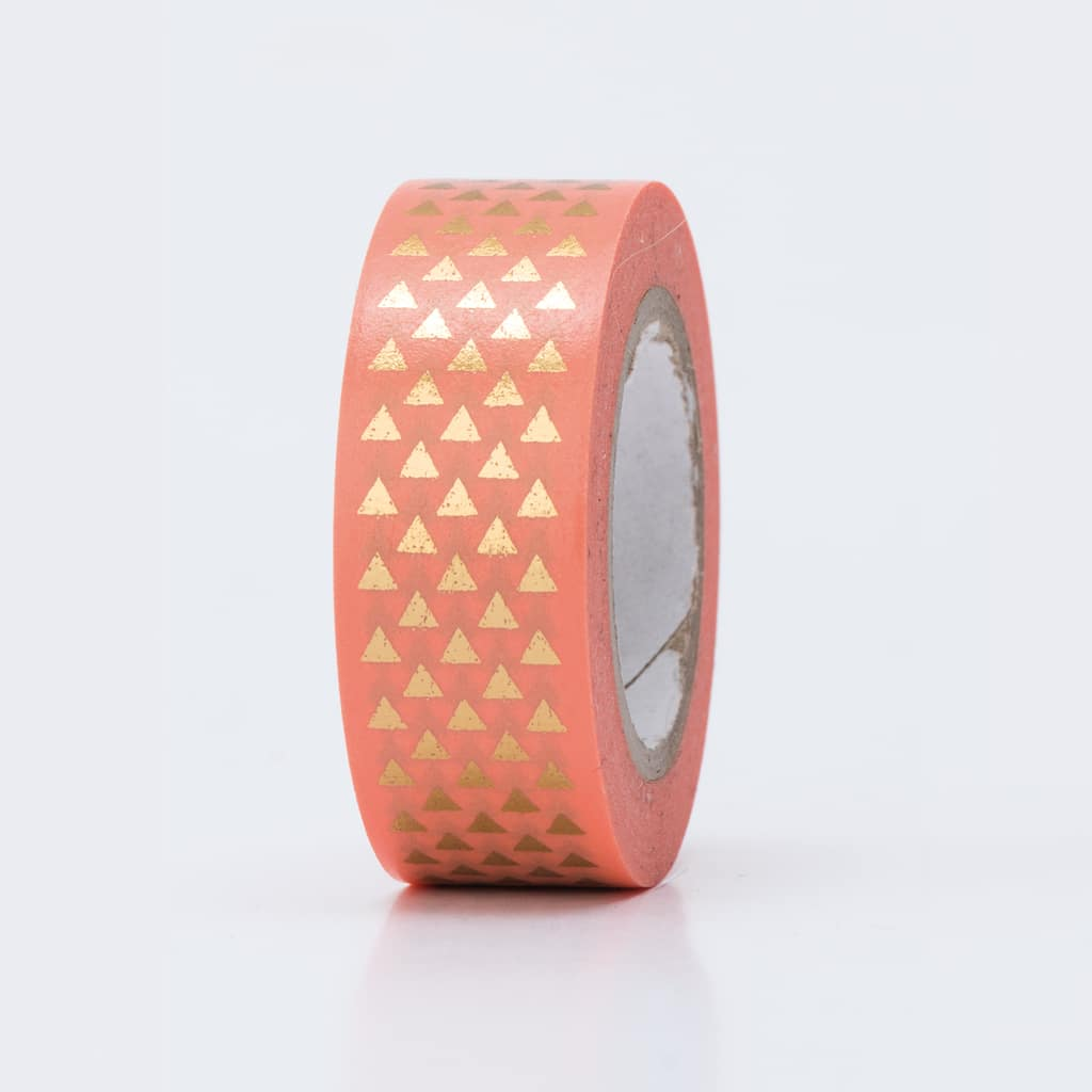 washi tape hot foil triangles
