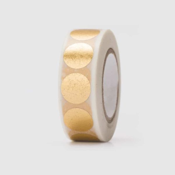 washi tape hot foil gold dots