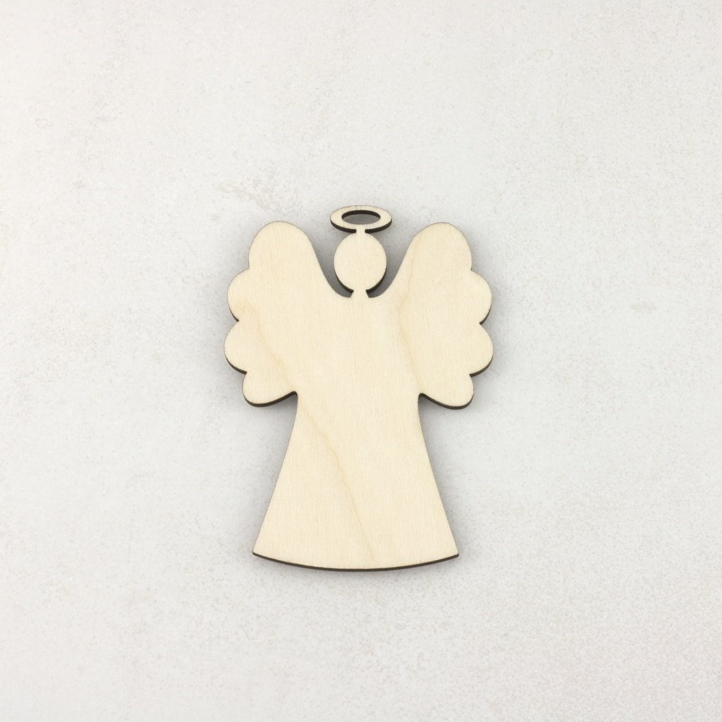 Wooden Christmas craft decorations Angel