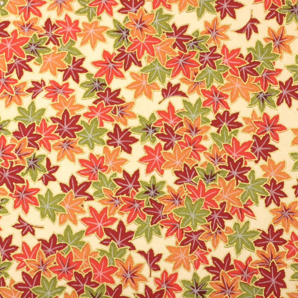 Chiyogami Paper Autumn Maple 621c