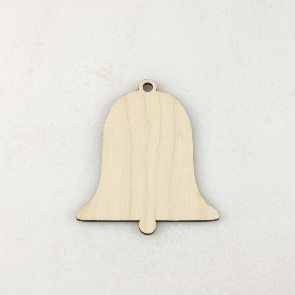 Wooden Christmas craft decorations bell