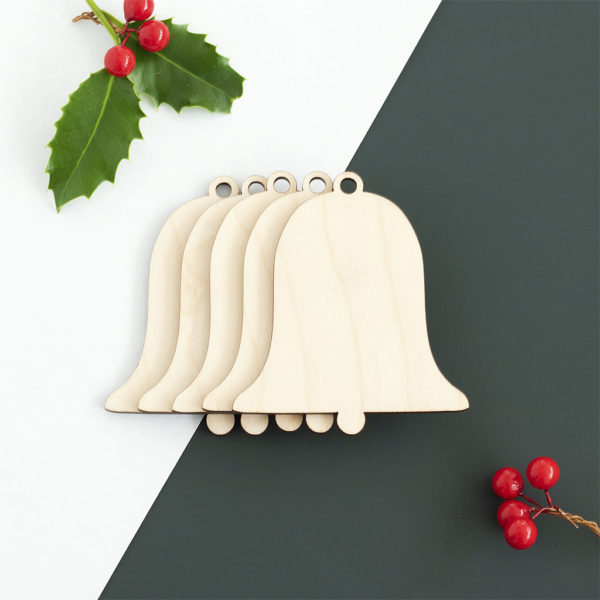 Wooden Bell Christmas Craft Shape