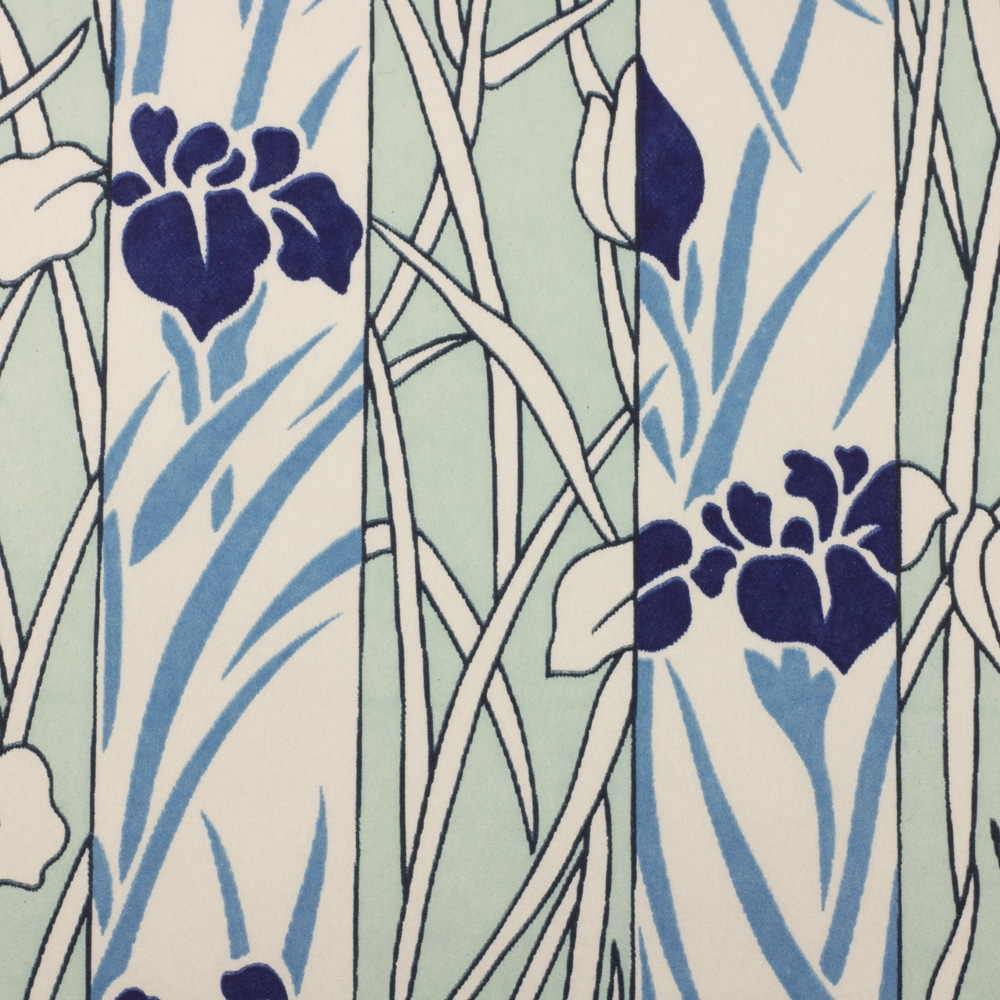 Chiyogami Paper Blue Reeds 185c