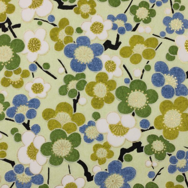 Chiyogami Paper Bubble Flower Green 773c