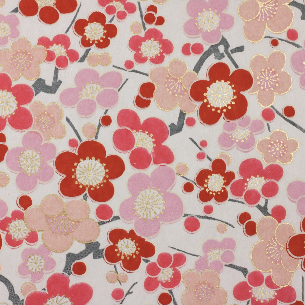 Chiyogami Paper Bubble Flower Pink 774c