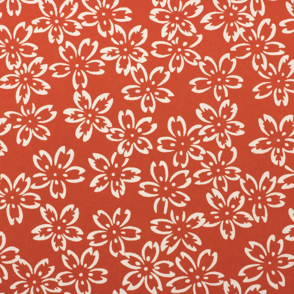 Chiyogami Paper Chilli Red Petals 863c