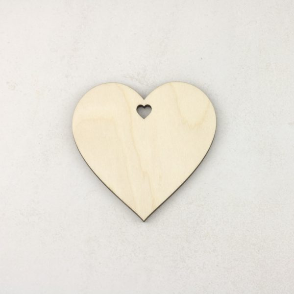 Wooden Christmas craft decorations Heart