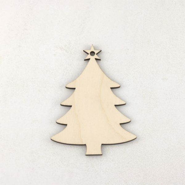 Wood Christmas Decorations.Wooden Christmas Tree Craft Blank Decorations