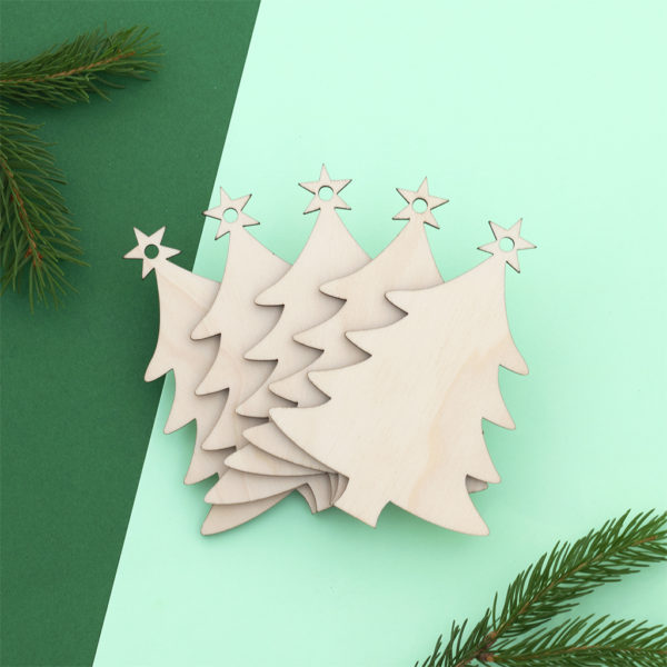 Wooden Christmas Trees Craft Shapes