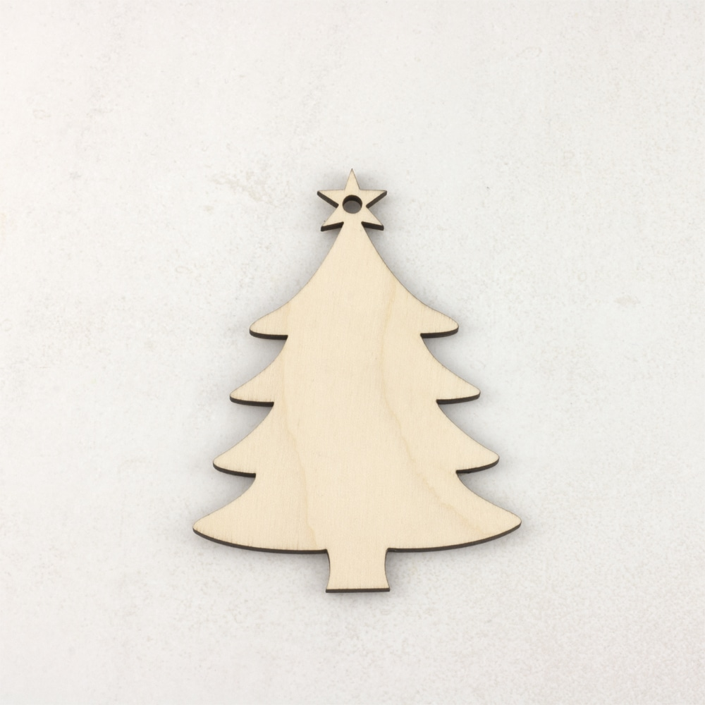 Wooden Christmas craft decorations tree