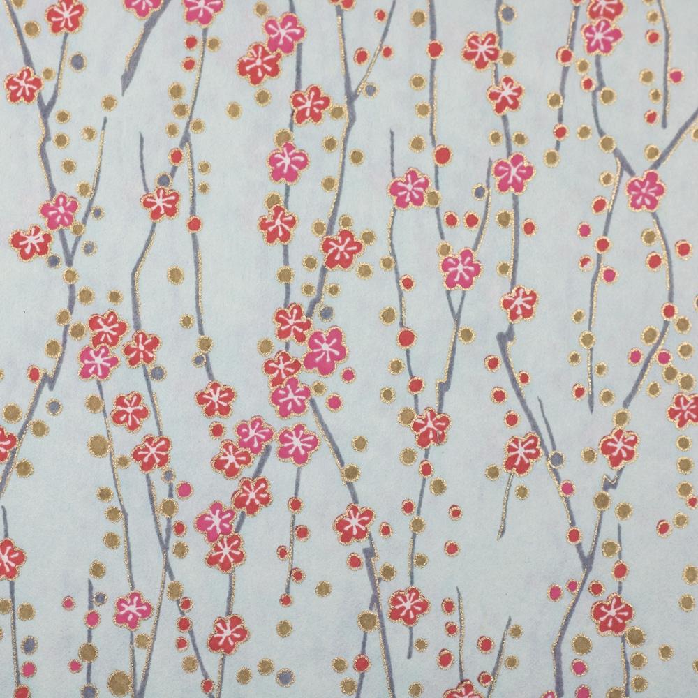 Chiyogami Paper Dandelion Blue 503c