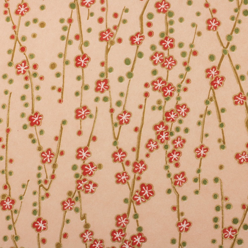 Chiyogami Paper Dandelion Peach 466c