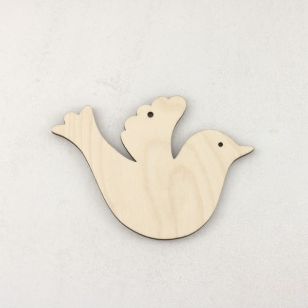 Wooden Christmas craft decorations Dove