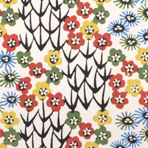 Katazome-Shi Paper Floral Patchwork 91w