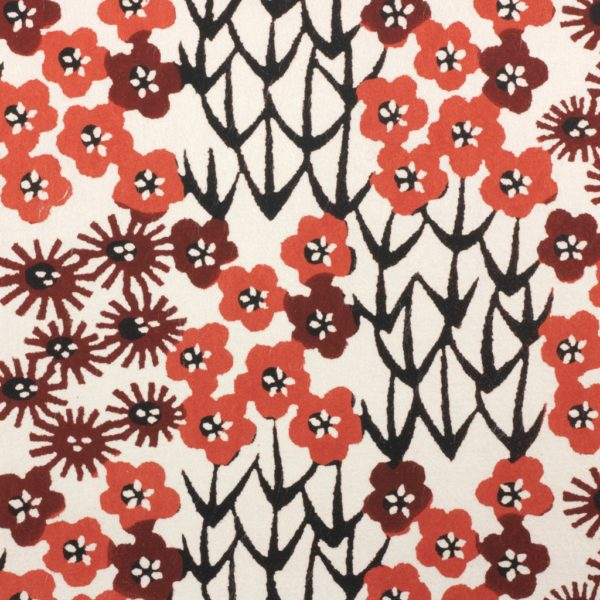 Katazome-Shi Paper Floral Patchwork Red 127w