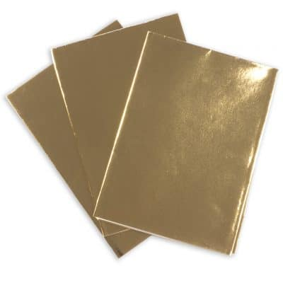 Hot Foil Plain Gold Paper