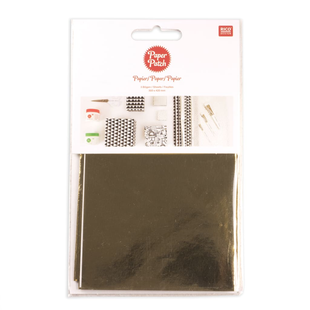 Hot Foil Plain Gold Paper Pack
