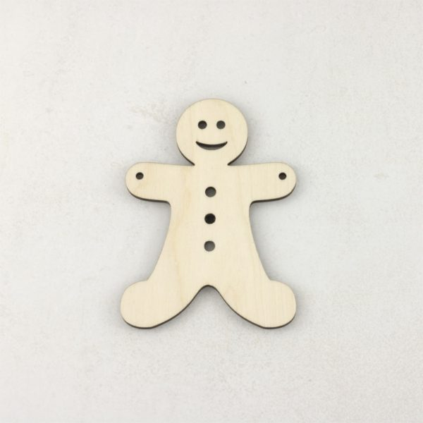 Wooden Christmas craft decorations gingerbread man