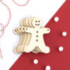 Wooden Gingerbread Man Craft Shape