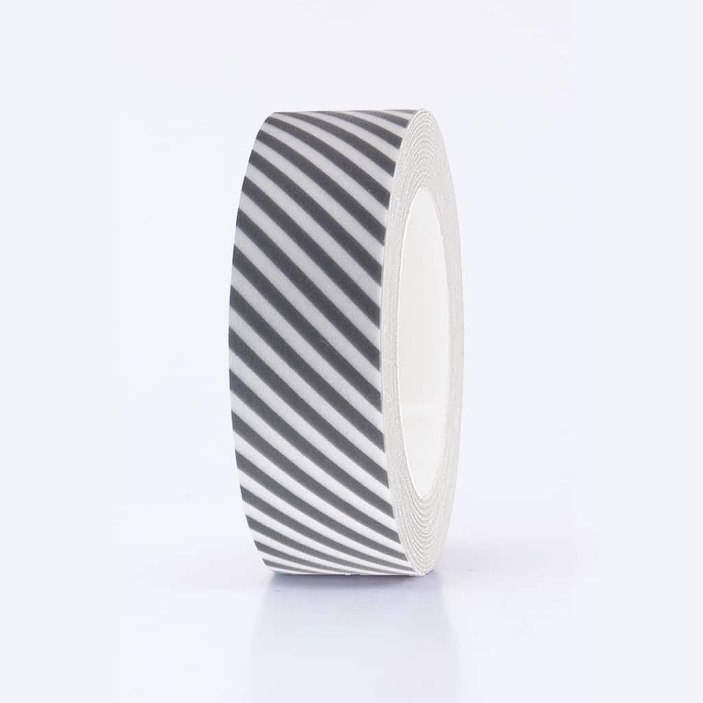 washi tape grey striped