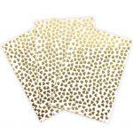 Hot Foil Gold Hearts Paper