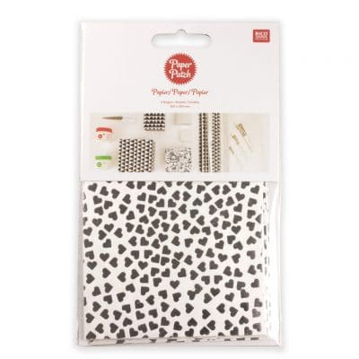Hot Foil Silver Hearts Paper Pack