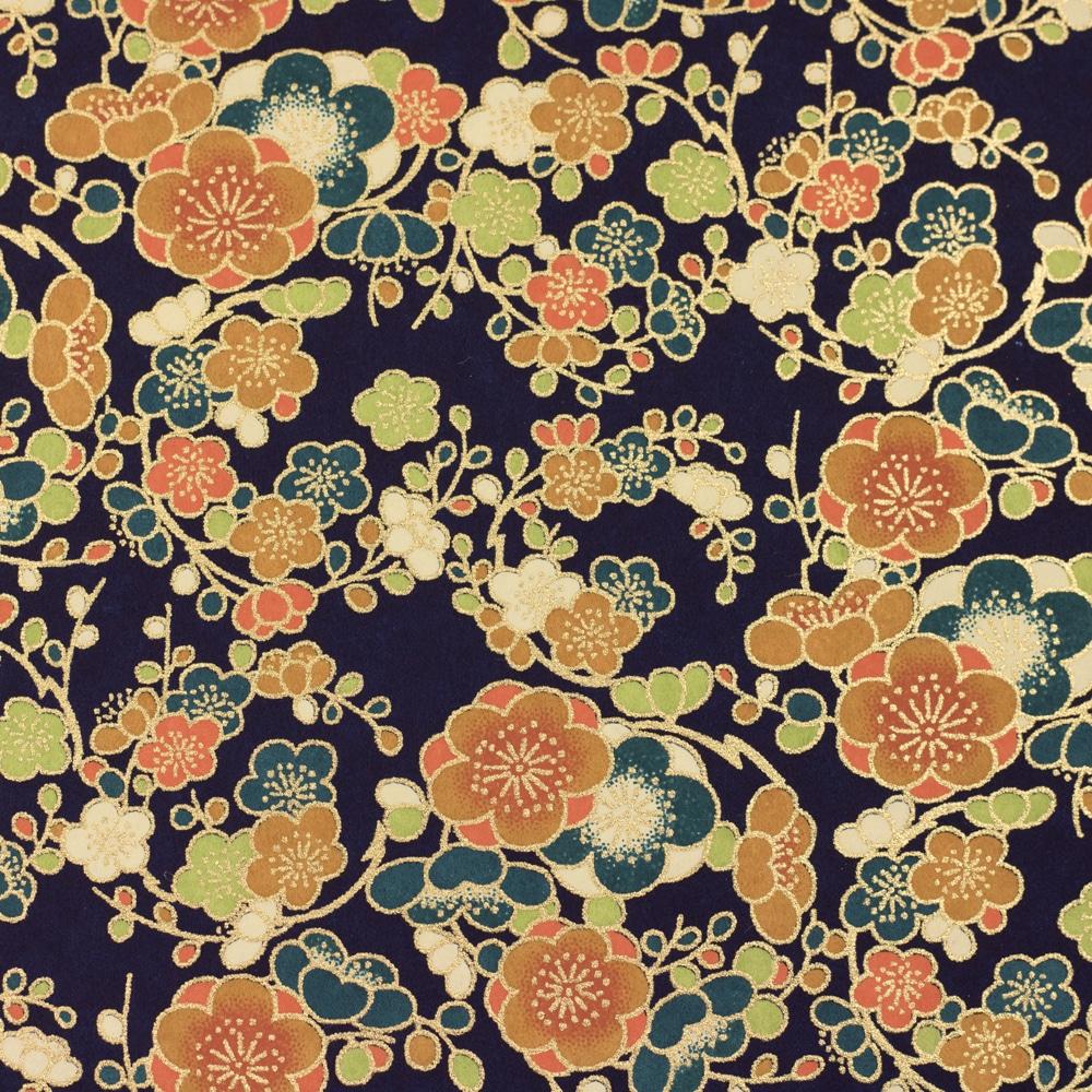 Chiyogami Paper Japonica Blue 313c