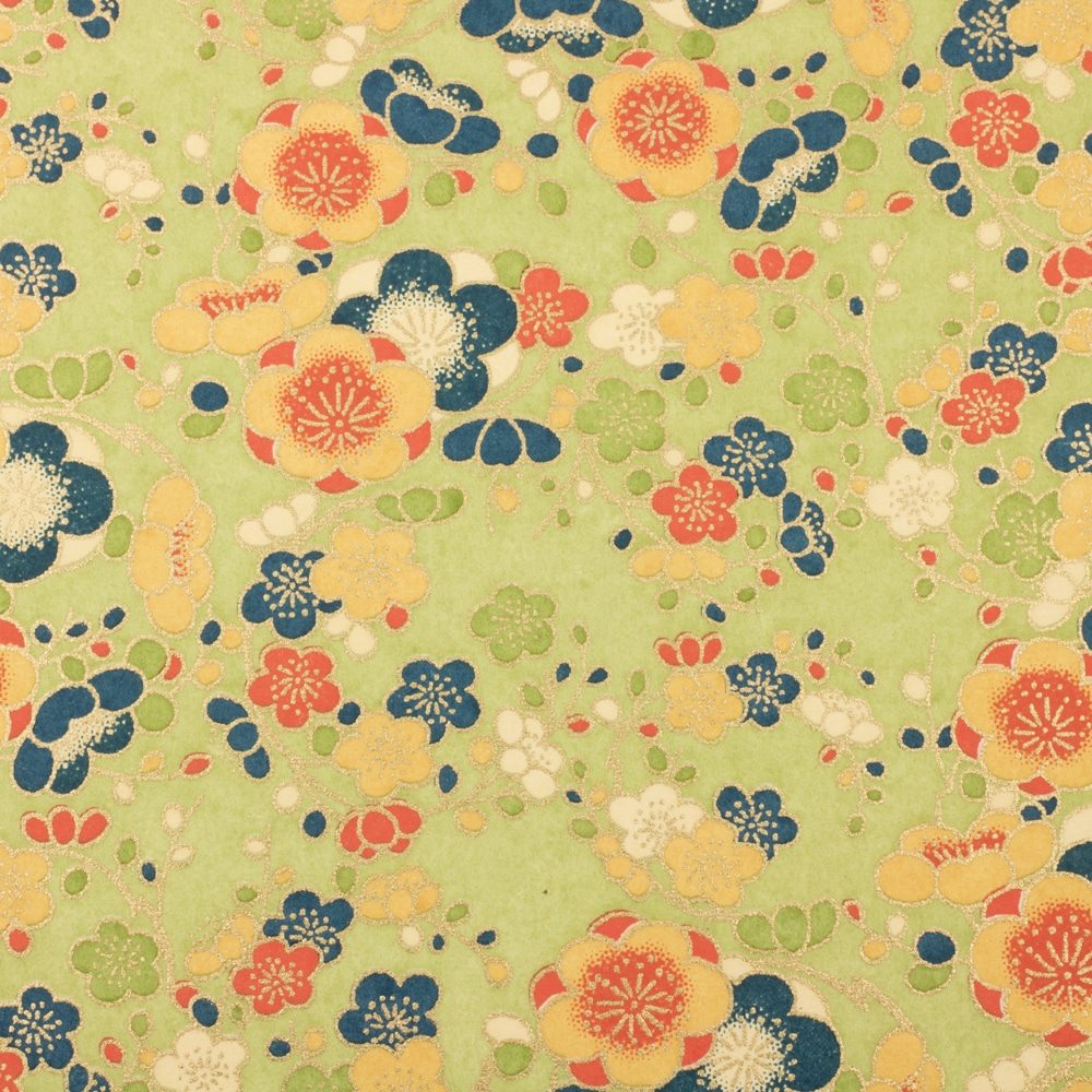 Chiyogami Paper Japonica Green 188c