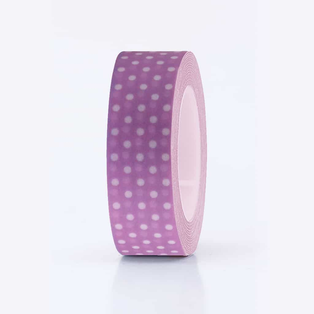 washi tape lilac dotted.