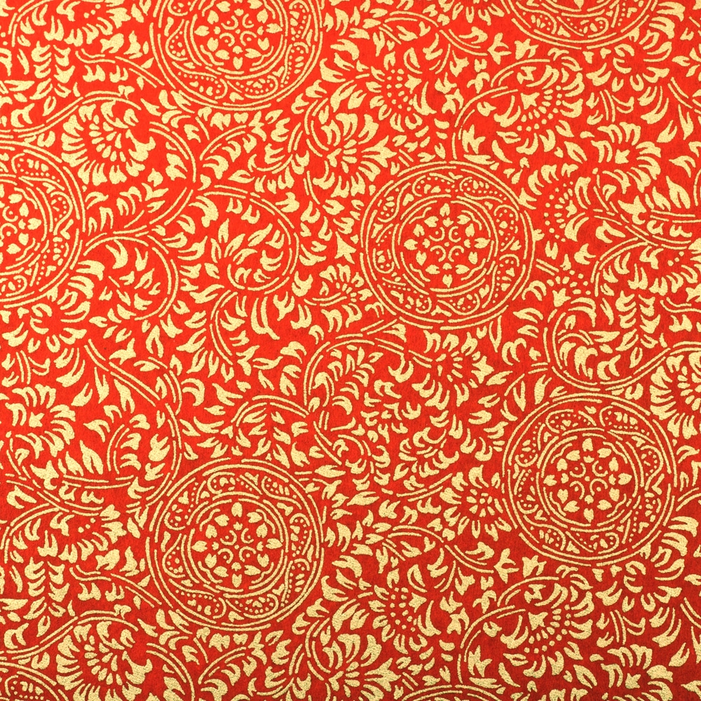 Chiyogami Paper Medallion Red 789c