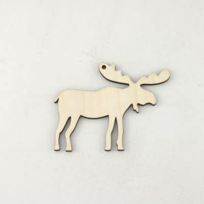 Wooden Christmas craft decorations Moose