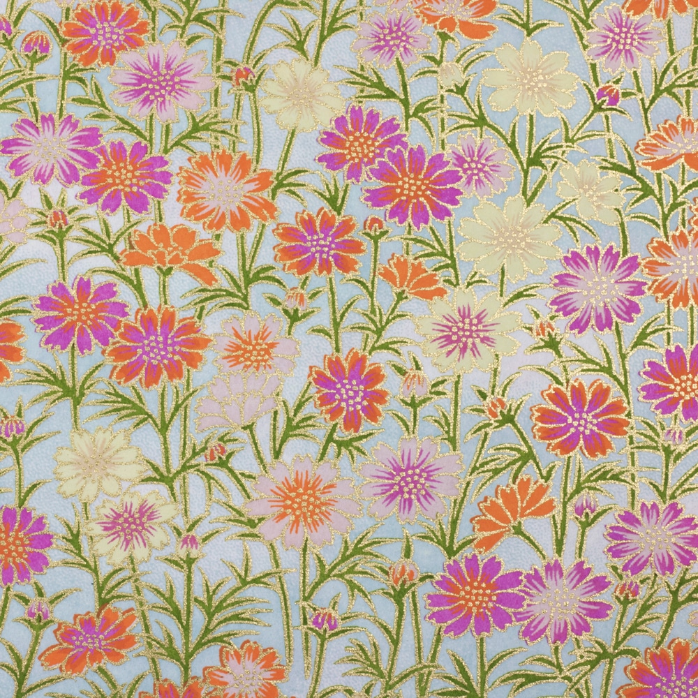 Chiyogami Paper Multi Daisy 639c