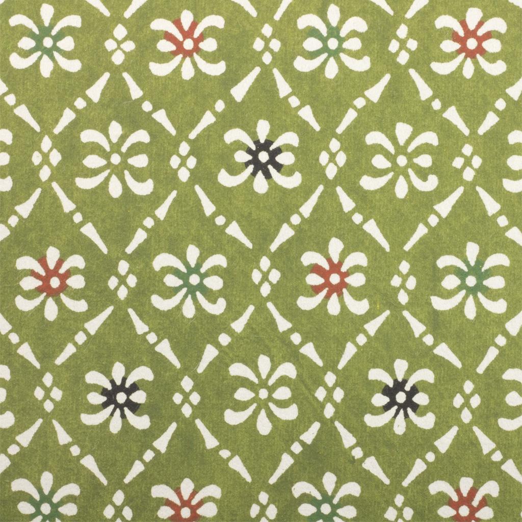Katazome-Shi Paper Olive Motif 141w
