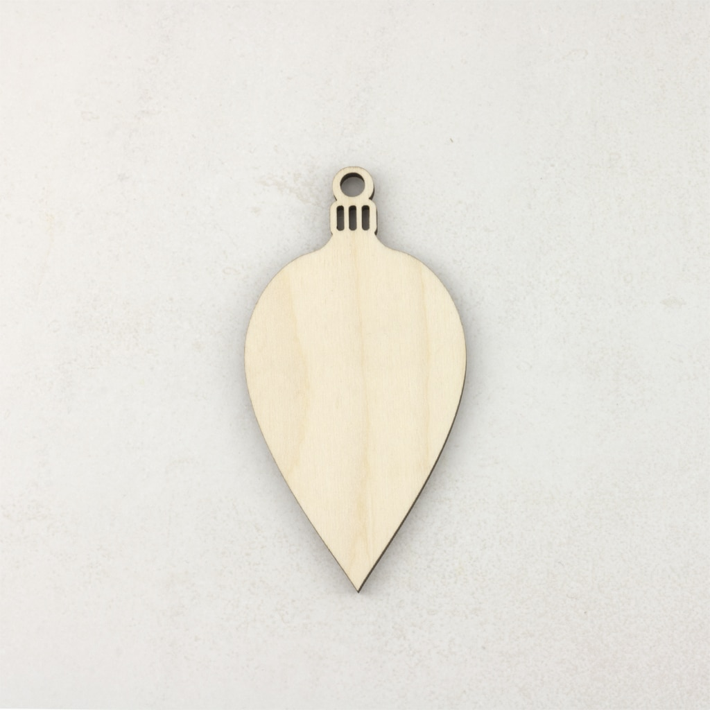 Wooden Christmas craft decorations Oval Bauble