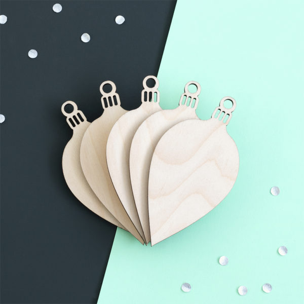 Wooden Oval Bauble Christmas Craft Shapes