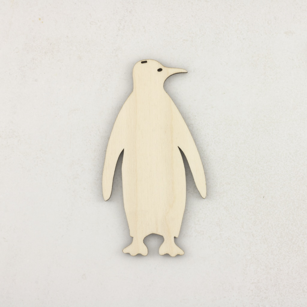 Wooden Christmas craft decorations Penguin