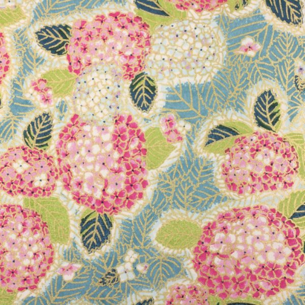 Chiyogami Paper Pink Hydrangea 988c