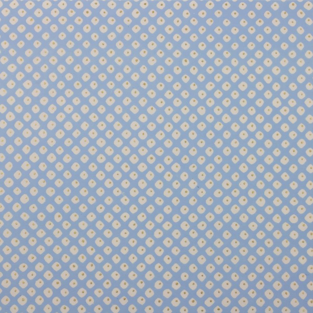 Chiyogami Paper Polkadot Blue 942c