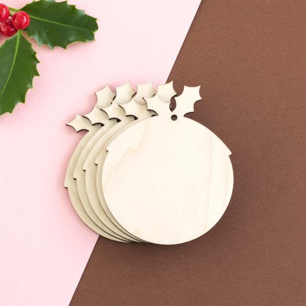 Wooden Christmas Pudding Craft Shape