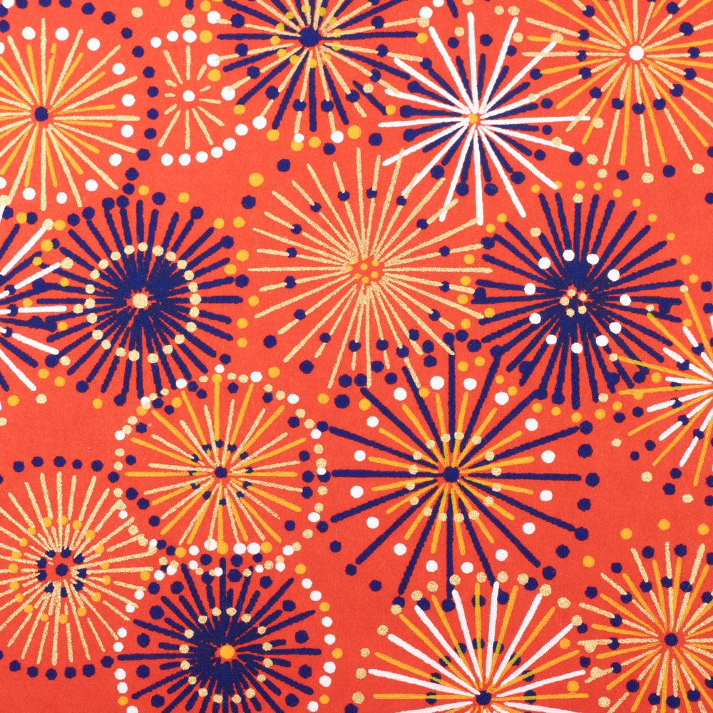 Chiyogami Paper Red Fireworks 598c