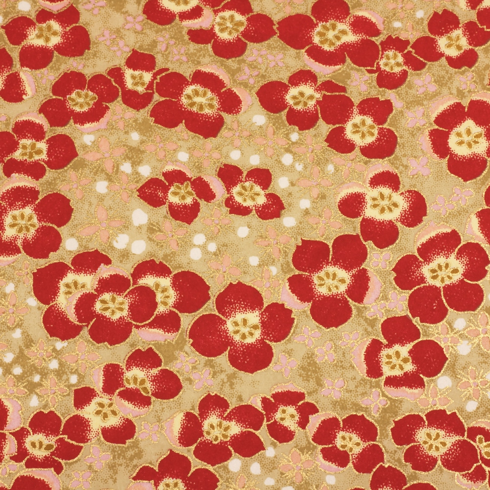 Chiyogami Paper Red Poppy 629c