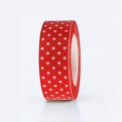 washi tape red dotted.