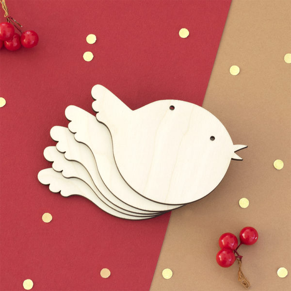 Wooden Robin Craft Shape
